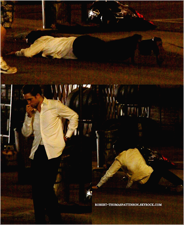 06/07/11:            Bon plus besoin d'un titre si? Bah Robert toujours sur le tournage de COSMOPOLIS haha.