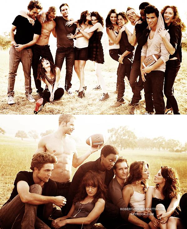 DIVERS:            Coup de coeur n°1 Photoshoot réalisé par Vanity Fair en 2008 rassemblant tous le cast de Twilight. J'aime leur complicité ♥ Et vous quel est votre shoot préféré ?
