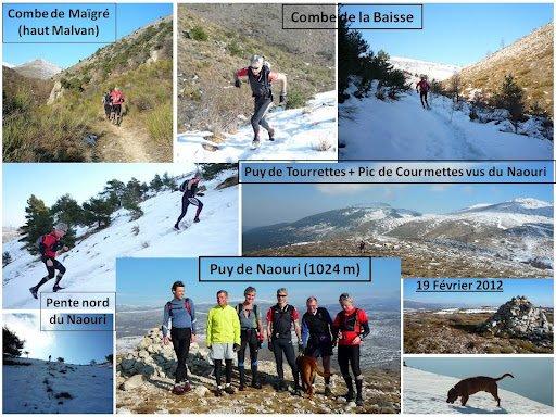 """Puy de Naouri – Tourrettes-sur-Loup (sortie """"trail blanc"""" 2012)"""