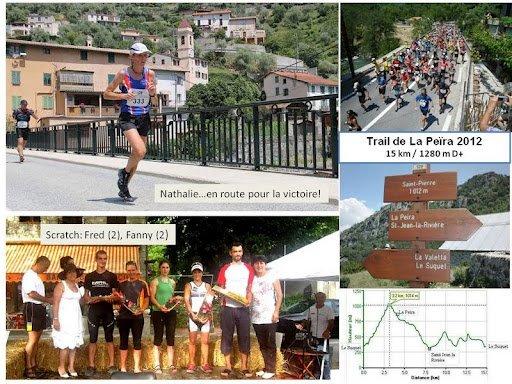 Trail de La Peïra 2012 (Le Suquet d'Utelle) – Victoire Féminine et Podiums Scratch
