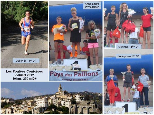 Les Foulées Contoises 2012 (Contes) – Podiums pour l'ASPTT Nice