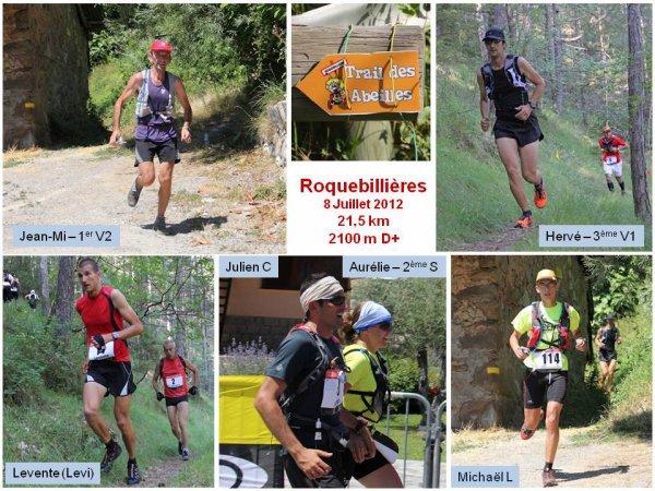 Trail des Abeilles 2012 (Roquebillières) - Podiums pour l'ASPTT Nice