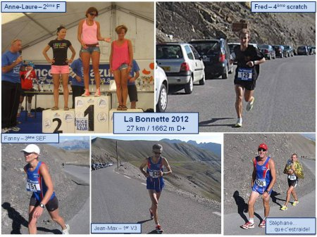 Ascension de La Bonnette 2012 – Podiums pour l'ASPTT Nice