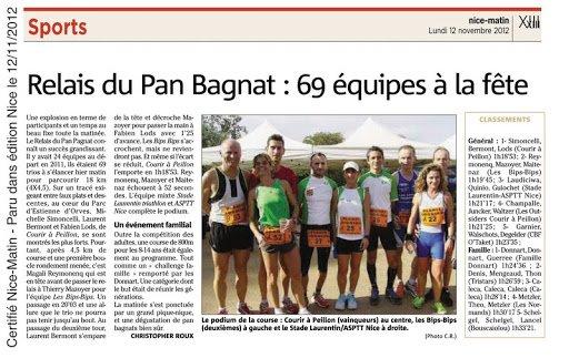 Relais du Pan Bagnat (Nice) – Corinne et Gilles ont frappé fort (podium scratch)!