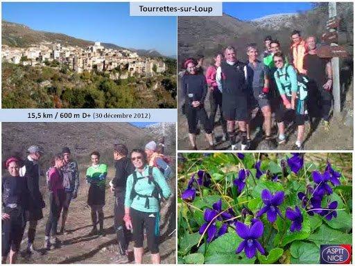 Sortie Trail de la Saint Sylvestre 2012 – Tourrettes-sur-Loup