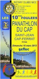 Foulées Panathlon du Cap – Saint-Jean-Cap-Ferrat (10 mars 2013)