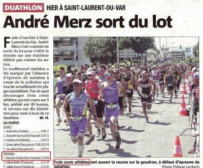Duathlon de Saint-Laurent-du-Var 2013 - Victoire de Marylène