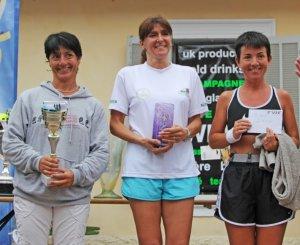 Les Foulées Biotoises 2013 – Le podium V1 pour Cathy