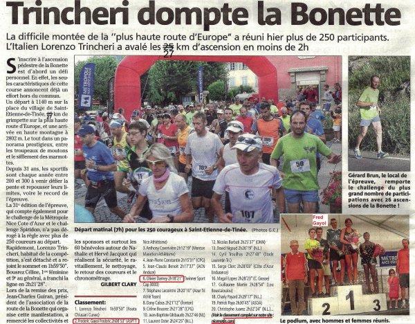 Ascension de La Bonette 2013 – Podiums Scratch et Vétérans pour l'ASPTT Nice