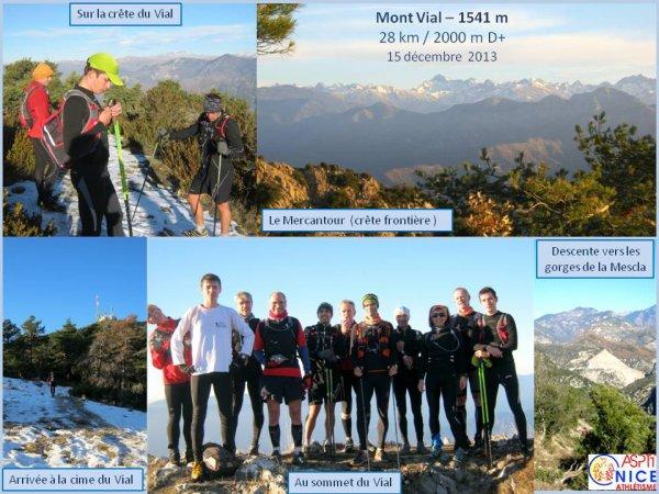 Sortie Trail du 15 décembre 2013 – Circuit du Mont Vial (1541 m)
