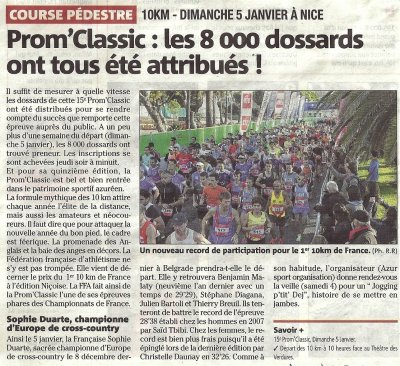 Prom'Classic 2014 - Dernière ligne droite pour 108 athlètes de l'ASPTT Nice !