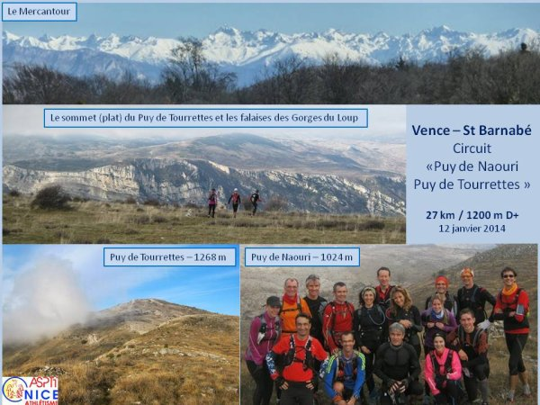Sortie Trail – Puy de Naouri et Puy de Tourrettes (Vence)