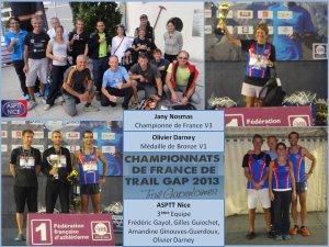 Sept Athlètes de l' ASPTT Nice à l'honneur pour leurs résultats nationaux 2013