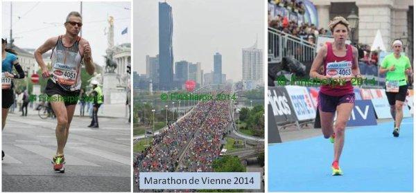 Marathon de Vienne 2014 – Bérengère et Eric dans le Top 10 de leur catégorie