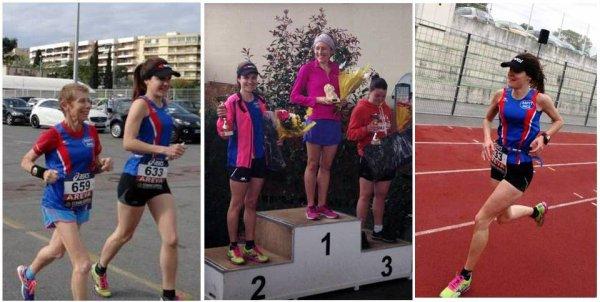 Les Boucles Laurentines 2014 – Camille 2ème Senior F, Jocelyne 2ème V3F
