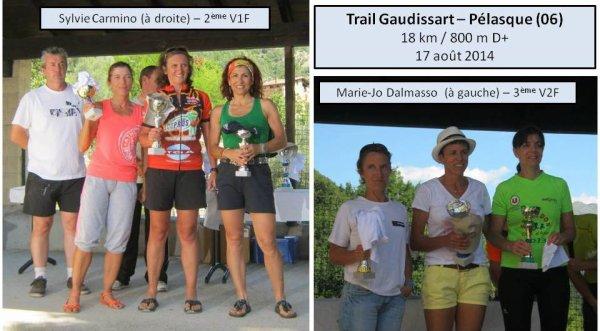 Trail Gaudissart 2014 (Pélasque) – Podiums pour Sylvie Carmino et Marie-Jo Dalmasso