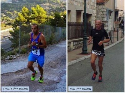 Course du Trophée 2014 (La Turbie) – Arnaud Folco 2ème, Maximilien Maccio 3ème, Michele Simoncelli 1ère V2, Jocelyne Gubbiotti 1ère V3
