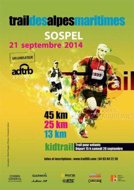 Trail des Alpes Maritimes 2014 (Sospel) - Podium V1 pour Olivier Darney