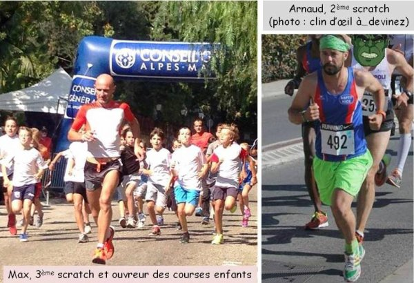 Les Boucles Berluganes (Beaulieu) – Arnaud Folco 2ème et Max Maccio 3ème du 14 km