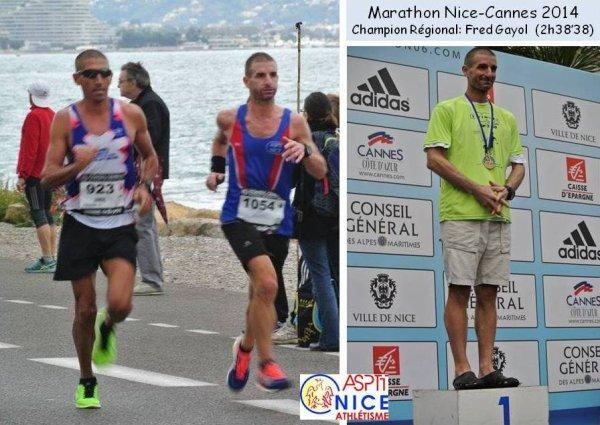 Marathon des Alpes-Maritimes 2014 – Frédéric Gayol Champion Régional de Marathon