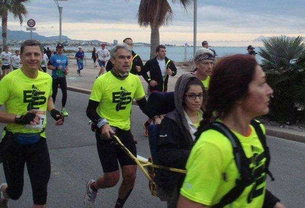 Nice-Cannes 2014 - L'aventure du Marathon en Joelette