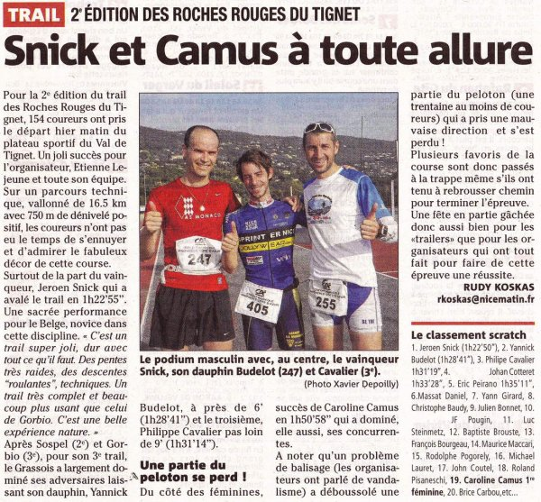 Trail des Roches Rouges 2014 (Le Tignet)