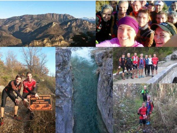 Sortie Trail de Noël 2014 – Le Broc – Bouyon - Les Ferres – Gilette – La Clave - Le Broc
