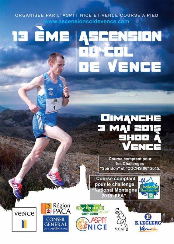 L'Ascension du Col de Vence 2015 (3 mai) - Inscriptions ouvertes