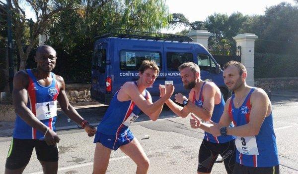 Foulées Panathlon du Cap 2015 (Saint-Jean-Cap-Ferrat) - Ancelot Lecanu 3ème scratch, David Demarty 3ème V1M, Jocelyne Gubbiotti 1ère V3F