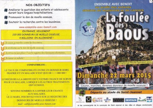 Dimanche 22 Mars 2015 - La Foulée des Baous (4,5 km, 10 km, marches)