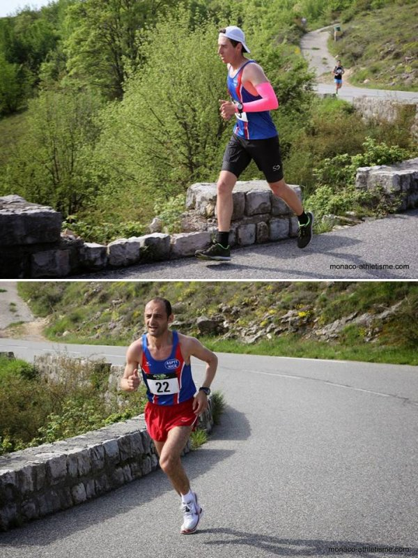 Ascension du Col de Vence – Top 10 de Fred Gayol (9ème, 1er Régional et 1er V1M) Olivier Darney 2ème V1M (12ème), Jean-Max Rolland 2ème V3M, l'ASPTT Nice 2ème club