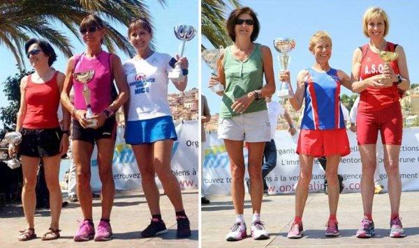 La Ronde des Plages 2015 (Menton) – L'équipe masculine 2ème, l'équipe féminine 3ème Podiums pour Max Maccio, Arnaud Folco, Michèle Simoncelli et Jocelyne Gaignebet