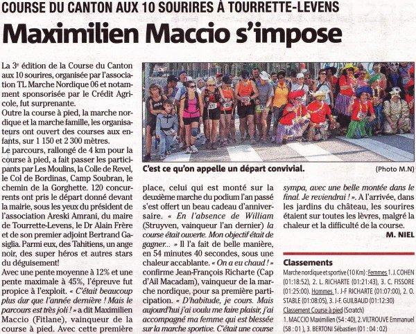 Course du Canton aux 10 Sourires – Victoire de Max Maccio, Séb Bertoni 3ème scratch