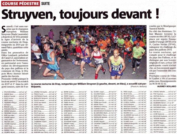 Course des Collines de Drap (06) – Podiums pour Arnaud Folco et Jocelyne Gaignebet