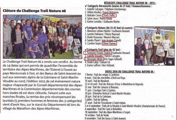 Challenge Trail Nature: la constance de Tutu, Bérengère, Dalfin et Olivier récompensée
