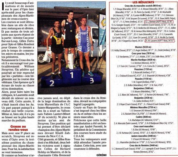 Départementaux de Cross - Belle prestation des équipes de l'ASPTT Nice Athlétisme