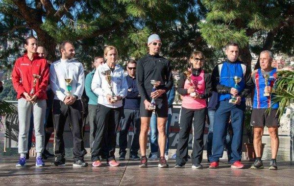 Mounta Cala Villafranca - Fabien 1er, Kevin 2ème et Michele 2ème Féminine sur 7 km Max 3ème sur 14 km