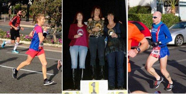 Challenge Spiridon 2015 - Trophées pour Sylvie (Trail), Jocelyne (Route) et Max (Route)
