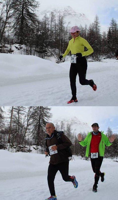 Ubaye Snow Trail - Turquoise 6ème du 19 km, Jany 1ère V3F et Clary 3 ème V3M du 9 km