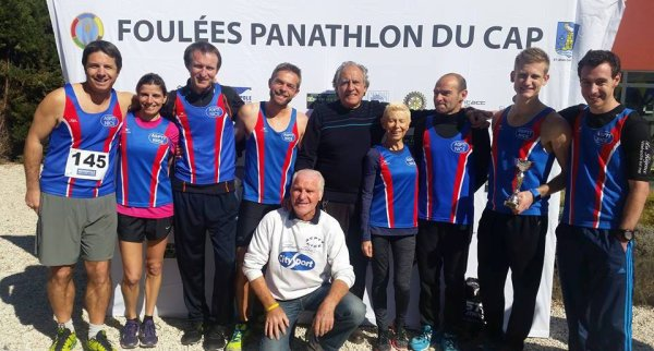 Les Foulées Panathlon du Cap - Victoire d'Alexis, Sébastien 2ème, Céline 3ème Femme