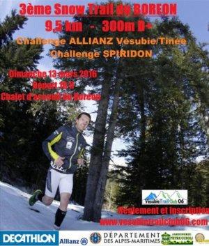 Snow Trail du Boréon 2016 (Saint-Martin-Vésubie) - Jean-Vincent Bihannic 3ème V1M