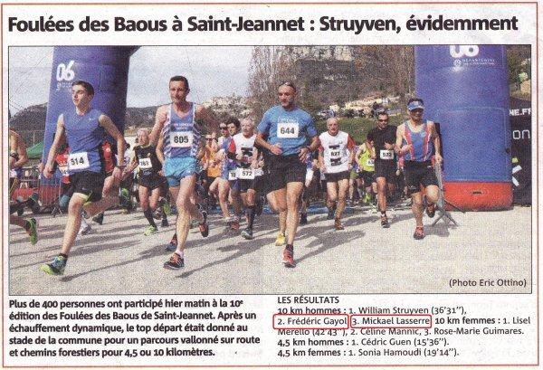 La Foulée des Baous 2016 (Saint-Jeannet) – Carton Plein !
