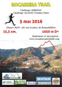 Rocabiera Trail 2016 (Roquebillière - Podium pour Isabelle Belia (2ème V2F)