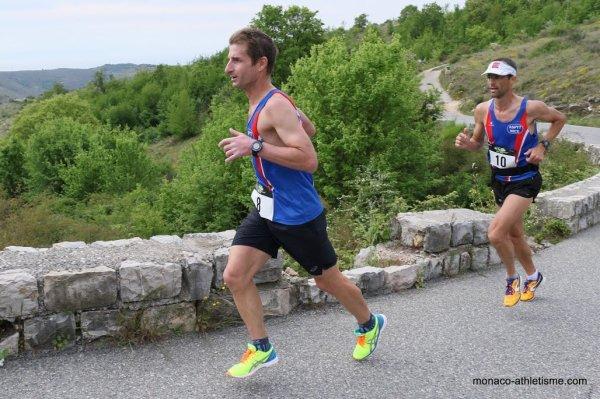 Ascension du Col de Vence 2016 - Fred Gayol 5ème, Olivier Darney 6ème