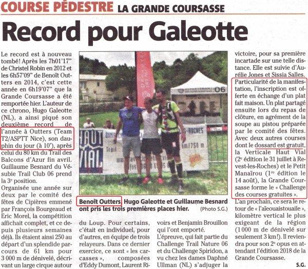 La Grande Coursasse (Cipières) - Benoit Outters 2ème, Olivier Darney 4ème (1er V1M)