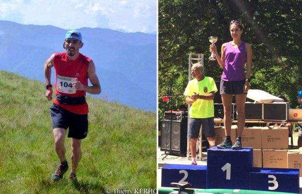 Trail de Caussols – Charly Dalfin 1er V1M (17 km), Camille Hahling 3ème SEF (6,5 km)