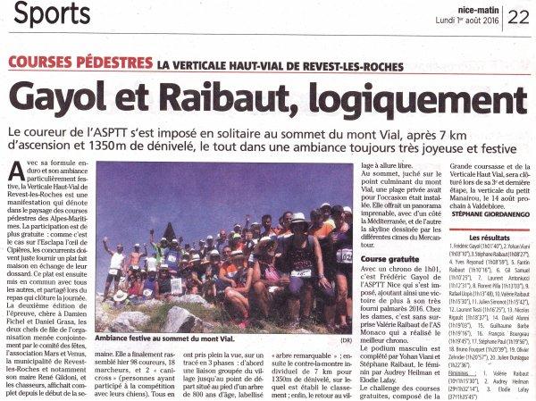 La Verticale Haut-Vial 2016 (Revest-les-Roches) – Frédéric Gayol au sommet