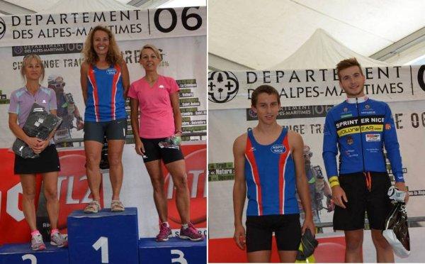 Trail des Alpes-Maritimes – Bastien et Isabelle 5ème sur 25km, Anthony 10ème sur 13km