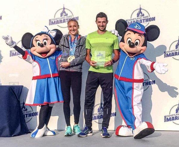 Semi-Marathon Disneyland Paris 2016 - Victoire de Nicolas Dalmasso