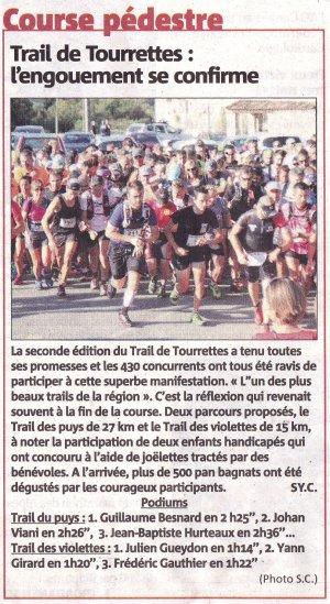 Trail de Tourrettes-sur-Loup 2016 – Succès de la 2ème édition